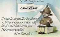 A message from Camp Meade postcard