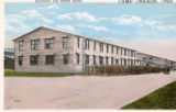 Barracks and street scene at Camp Meade postcard