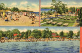 Baur Beach postcard