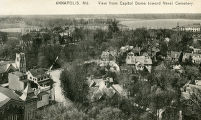 View from Capitol Dome Toward Naval Cemetery Postcard