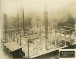 Subfloor steel beam construction of new Central Library of the Enoch Pratt Free Library (view...