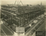 Completed structural steel framework of new Central Library of the Enoch Pratt Free Library (view...