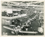 Line of Ercoupes at various stages of assembly, ca. 1946