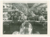 Rows of Ercoupes in various stages of assembly, ca. 1946