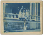 Gouchers, Fosses, and Mrs. McCauley at Alto Dale, Pikesville, Baltimore County, Maryland, circa...