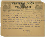 Telegram: William V. Kelley to E. L. Watson, December 22, 1915