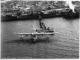 Aerial view of Sikorsky flying boat at Baltimore Municipal Airport