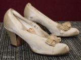 Wedding shoes, ca. 1940s