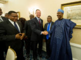 Governor Martin O'Malley with the Tanzanian and Nigerian Delegations