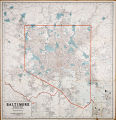 1930 (ca.) - Cram's street map of the Baltimore area