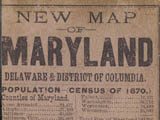 1875 - New map of Maryland, Delaware, and the District of Columbia