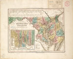 1844 - A new map of Maryland and Delaware with their canals, roads, & distances