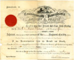 Charles Sanford Derland Adjutant's commission dated July 30, 1863