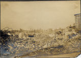 View northwest from South Street at rubble between Water and German Streets