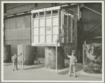 Rod mill heat treating equipment at Bethlehem Steel Company Sparrows Point Yard, Baltimore County, Maryland, circa 1938
