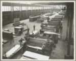 Coil cut-up line in processing department at Bethlehem Steel Company Sparrows Point Yard,...