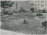Decorative garden planting at St. Paul Place celebrating Baltimore's bicentennial anniversary,...