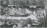 Baltimore clipper ship float in parade celebrating Baltimore's bicentennial anniversary,...