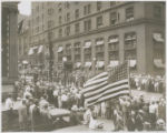 Soldiers of 12th Infantry marching in military parade celebrating Baltimore's bicentennial...