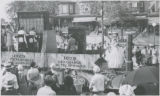 Float depicting growth of telephone industry between 1879 and 1929 in parade celebrating...
