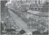 Sixth Field Artillery in military parade celebrating Baltimore's bicentennial anniversary,...