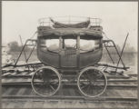Post coach built in 1831 at West Point Foundry in New York City, visiting exhibit at Baltimore and...