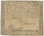 Maryland eight dollar note, August 14, 1776