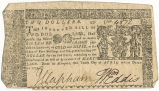 Maryland two dollar note, April 10, 1774