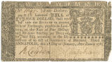 Maryland four dollar note, January 1, 1767