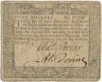 Maryland four dollar note, December 7, 1775