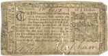 Maryland one-sixth dollar note,  April 10, 1774