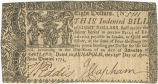 Maryland eight dollar note, April 10, 1774