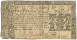 Maryland two-thirds dollar note, April 10, 1774