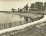 WPA Project Number 13 - Fence and walkway constructed by WPA workers at Lake Ashburton in Baltimore