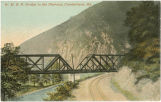 Cumberland, Maryland, ca. 1912 : W. M. R. R. bridge in the Narrows