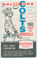 Baltimore Colts: 1963 radio and TV schedule
