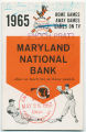 Baltimore Orioles: 1965 home games / away games / games on TV
