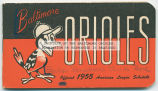 Baltimore Orioles: official 1955 American League schedule