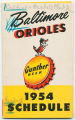 Baltimore Orioles: 1954 schedule