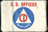 Maryland Civilian Defense Officer armband