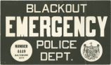 Air raid blackout emergency placard
