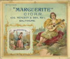 "Advertisement for ""Marguerite"" cigars manufactured by August Mencken and Brother"