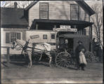 Last stagecoach trip to Sandy Spring Post Office, Montgomery County, Maryland, 1916