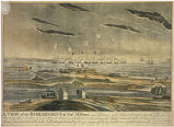 A view of the Bombardment of Fort McHenry, near Baltimore by the British fleet, taken from the...