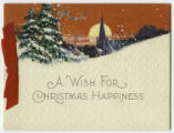 A wish for Christmas happiness, 1927