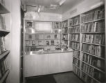 Enoch Pratt Free Library's bookmobile (interior), Baltimore, Maryland, February 1949