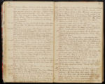 Emily Ann Powell Warrington's annotated diary 1846-1862 pages 034 and 035
