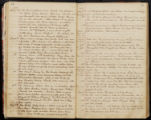 Emily Ann Powell Warrington's annotated diary 1846-1862 pages 044 and 045