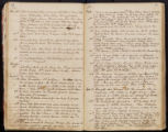 Emily Ann Powell Warrington's annotated diary 1846-1862 pages 052 and 053