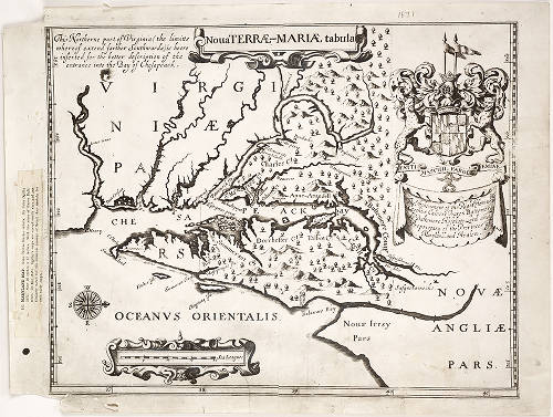 1671 - Nova Terrae-Mariae tabula